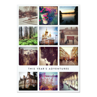 Photo Collage Instagram Happy Holiday Card