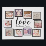 "Photo Collage LOVE 10 Photo Family Faux Canvas Print<br><div class=""desc"">Photo Collage custom LOVE 10 photo template created by you personalized wall art - Faux Wrapped Canvas Print from Ricaso - add your own photographs and text to this great faux canvas</div>"