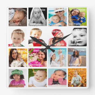 Photo Collage Make Your Own DIY Clocks