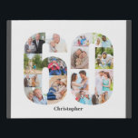 """Photo Collage Number 60 Custom 60th Birthday Faux Canvas Print<br><div class=""""desc"""">Create your own personalized photo gift for a 60th Birthday. This neat photo collage is in the shape of the number 60 on a white background with charcoal grey borders. The collage can hold 15 photos and the template is set up ready for you to add your favorite photos working...</div>"""