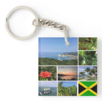 Photo Collage of Jamaica Keychain