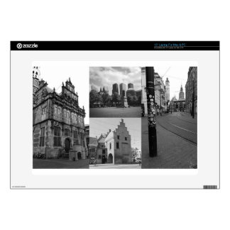 Photo collage of The Hague 1 in black and white Laptop Skin
