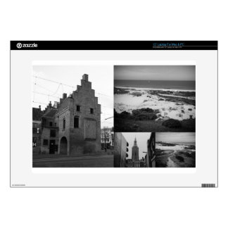 """Photo collage of The Hague 2 in black and white Skin For 15"""" Laptop"""