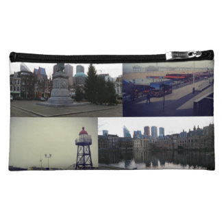 Photo collage of The Hague 3 Makeup Bag