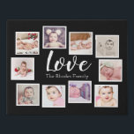 """Photo Collage One of a Kind 10 Photo Family Faux Canvas Print<br><div class=""""desc"""">Photo Collage custom 10 photo template created by you personalized wall art - Faux Wrapped Canvas Print from Ricaso - add your own photographs and text to this great faux canvas</div>"""