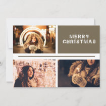 Photo Collage Personalizable Modern Christmas Holiday Card