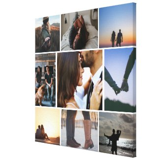 Photo Collage Personalized Canvas Print