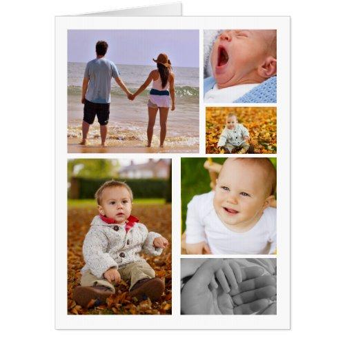 Photo Collage Personalized Unique Card