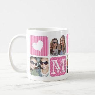 Photo Collage Pink Coffee Mugs