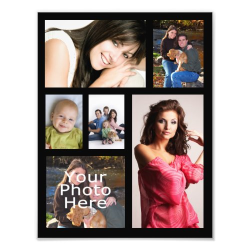 Photo Collage Print Six Pictures