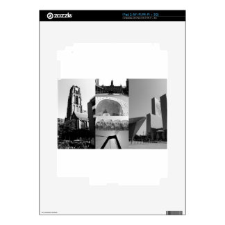 Photo collage Rotterdam 1 in black and white Skins For iPad 2