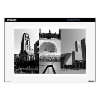 Photo collage Rotterdam 1 in black and white Skins For Laptops