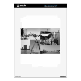 Photo collage Rotterdam 2 in black and white Decal For The iPad 2