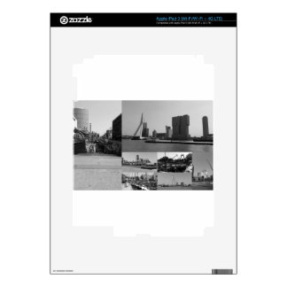 Photo collage Rotterdam 3 in black and white Decal For iPad 3
