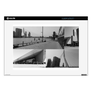 """Photo collage Rotterdam 4 in black and white 15"""" Laptop Decals"""