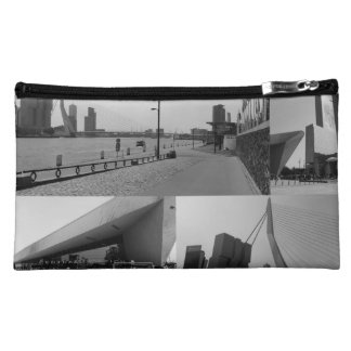 Photo collage Rotterdam 4 in black and white Cosmetic Bag