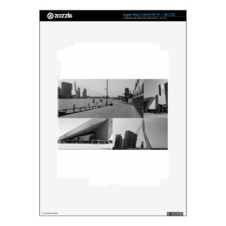 Photo collage Rotterdam 4 in black and white iPad 3 Decal