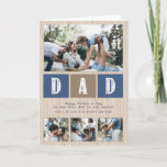"""Photo Collage Rustic Wood Pattern Father's Day Card<br><div class=""""desc"""">Photo Collage Rustic Wood Pattern Father"""