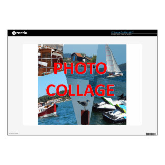 """Photo collage skin for 15"""" laptop"""