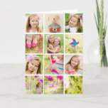 "Photo Collage Template Personalized<br><div class=""desc"">Turn this card into a lovely keepsake. It has slots for 12 of your favorite photos.</div>"