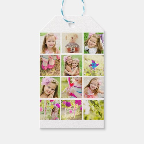 Photo Collage Template Personalized Gift Tags