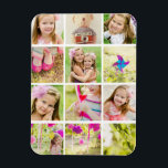 """Photo Collage Template Personalized Magnet<br><div class=""""desc"""">Turn this magnet into a lovely keepsake. It has slots for 12 of your favorite photos.</div>"""