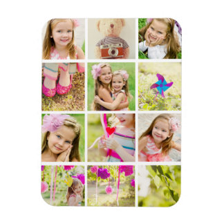 Photo Collage Template Personalized Rectangular Photo Magnet