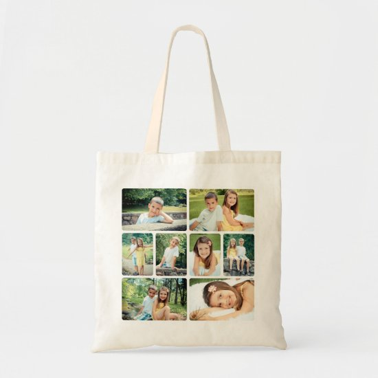 Photo Collage Tote Bag