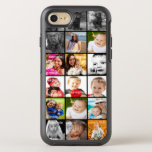 """Photo Collage Unique OtterBox Symmetry iPhone 8/7 Case<br><div class=""""desc"""">multi photo Collage Unique one of a kind OtterBox phone Ricaso - available for iPhone and Samsung in black or white</div>"""