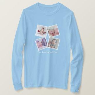 Photo Collage Unique Personalized 4 Photo T-Shirt
