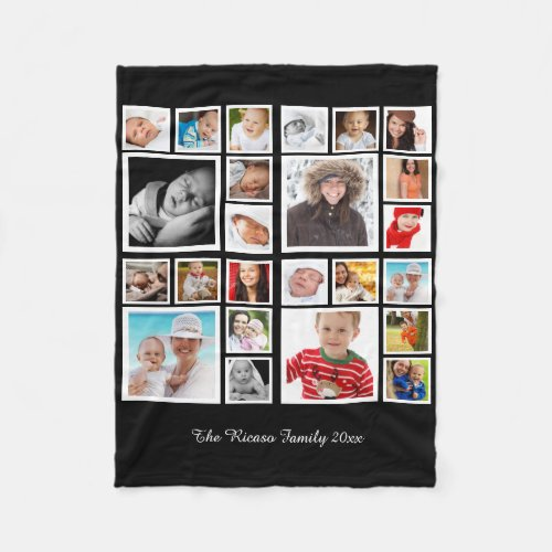 Photo Collage  Unique Personalized DIY Custom Fleece Blanket