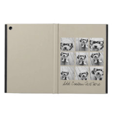 Photo Collage With 9 Square Photos - Taupe Ipad Air Covers at Zazzle