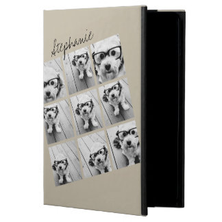 Photo Collage with 9 square photos - Taupe iPad Air Cases
