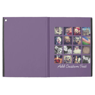 Photo Collage with Aubergine Background - 16 pics iPad Pro Case
