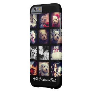 Photo Collage with Black Background Barely There iPhone 6 Case