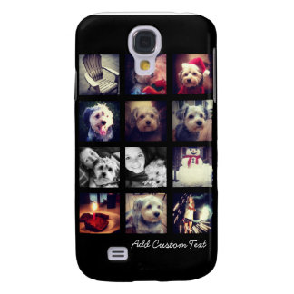 Photo Collage with Black Background Galaxy S4 Cases