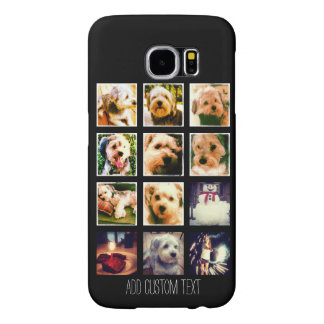 Photo Collage with Black Background Samsung Galaxy S6 Cases