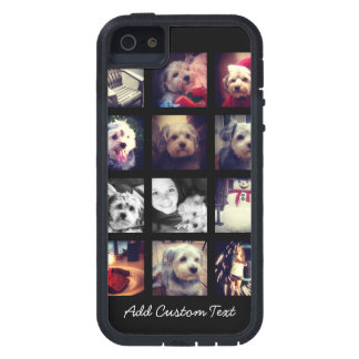 Photo Collage with Black Background iPhone 5 Case