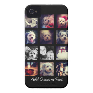 Photo Collage with Black Background iPhone 4 Covers