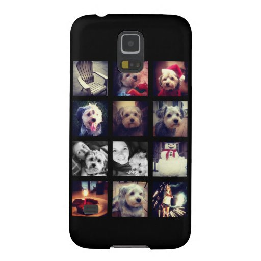 Photo Collage with Black Background Case For Galaxy S5