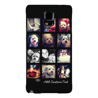 Photo Collage with Black Background Galaxy Note 4 Case