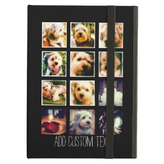 Photo Collage with Black Background iPad Air Cases