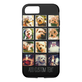 Photo Collage with Black Background iPhone 7 Case