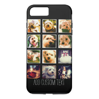 Photo Collage with Black Background iPhone 7 Plus Case
