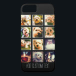 "Photo Collage with Black Background iPhone 8/7 Case<br><div class=""desc"">Add your favorite photo sharing pics to this fun grid. This sample uses Instagram photos and the kelvin frames,  buy you can add any photos that you would  like!</div>"