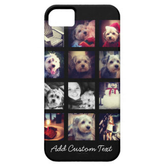 Photo Collage with Black Background iPhone SE/5/5s Case