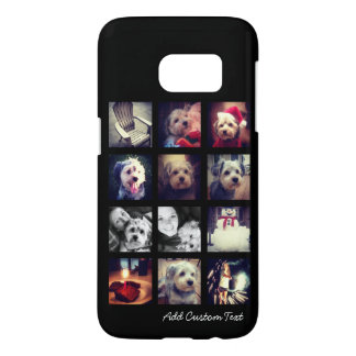 Photo Collage with Black Background Samsung Galaxy S7 Case