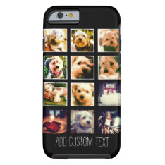 Photo Collage With Black Background Tough Iphone 6 Case at Zazzle