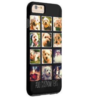 Photo Collage with Black Background Tough iPhone 6 Plus Case