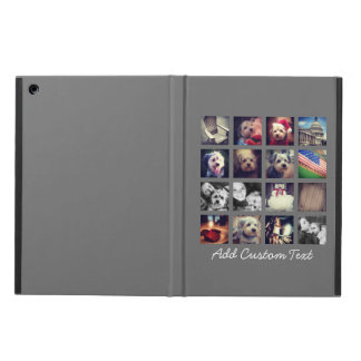 Photo Collage with Charcoal Background - 16 pics iPad Air Cases